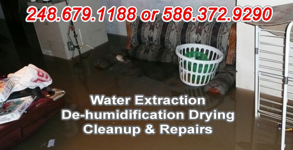flood restoration Chesterfield, Michigan